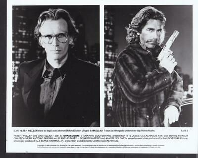 Sam Elliott and Peter Weller in Shakedown 1988 original movie photo 39314