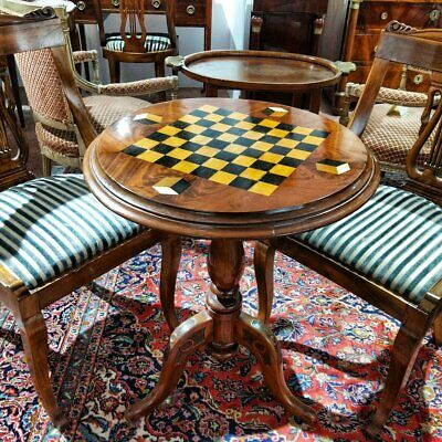 Louis Philippe Pedestal Table In Mahogany Ivory From The 19th Century