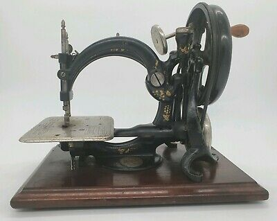 Early Antique Willcox & Gibbs Chain Stitch Sewing Machine Late 1800s