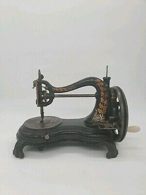 Early Antique Jones Hand Crank Sewing Machine Rare Pre 1890
