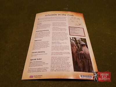 The Hobbit Scenario Sheet - Lord of the Rings Warhammer Middle Earth