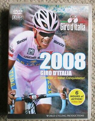 2008 Giro d'Italia World Cycling Productions 3 DVD 6 hrs Contador Very Clean