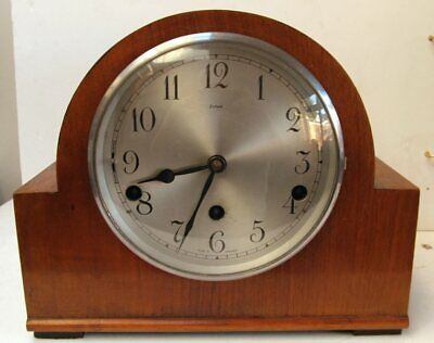 Vintage Enfield Art Deco Style 8 Day Westminster Chime Mantle Clock
