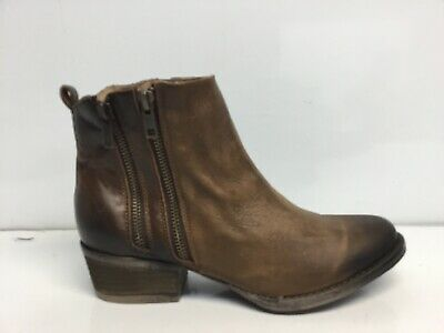 Circle G by Corral Ladies Burnished Brown Double Zipper Bootie Q0025