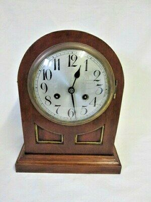 A Junghans Mahogany Chiming Mantel Clock