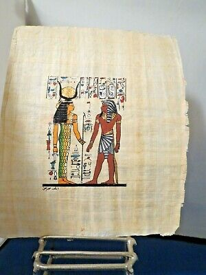 Egyptian Art (2) on Papyrus/Signed #1052