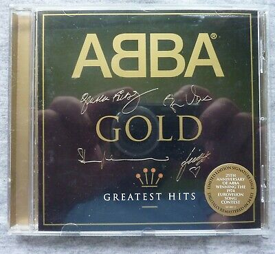 Abba Limited Etched/Embossed Signature Edition.gold Greatest Hits. 19 Track Cd