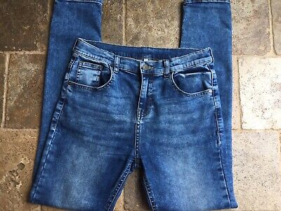 M&S Boys Blue Skinny Jeans Age 12-13 Years