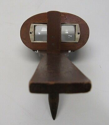Antique Triumph Stereoscope View Hand Held Pat 1897 Wooden Folding Handle