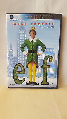 Elf 2003  Christmas comedy movie DVD, 2 Disc Set Will Ferrell James Caan holiday