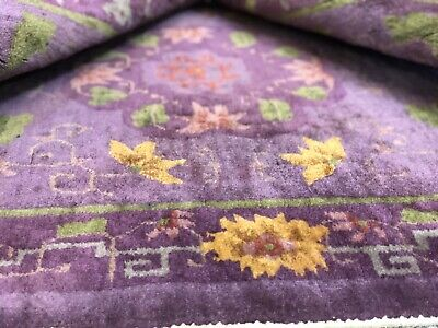 Auth: Antique Art Deco Chinese Rug Nichols. 3x5  Plush Wool Hand Made  Beauty NR