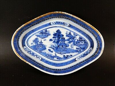 Antique Chinese Export  NANKING Porcelain Semi Armorial Tray Stand 18th Century