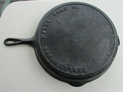 Vtg Griswold Eagle Stove Works 12 Cast Iron Skillet Rare Antique Pan HTF Rome GA