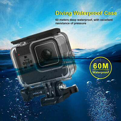 For GoPro HERO8 Black Diving Protective Housing Shell Surfing Waterproof Cases