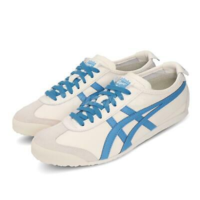 Asics Onitsuka Tiger Mexico 66 Cream Beige Blue Men Womens Shoes 1183A201-105