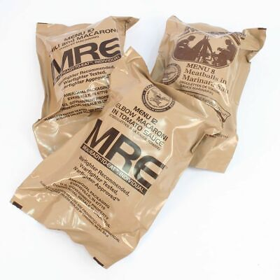 GENUINE US ARMY MILITARY RATION MRE Pack Emergency Combat Survival Camping 24 HR