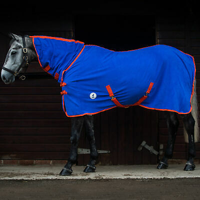 """GEE TAC HORSE RIDE ON FLY RUG COMBO UV RATED FLY MASK 5.9/""""  ALL BLUE"""