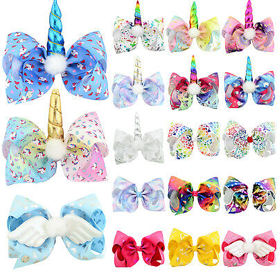 8 Inch Big Bows Boutique Hair Clip Pin JOJO Clips Grosgrain Ribbon Bow Girl Prop