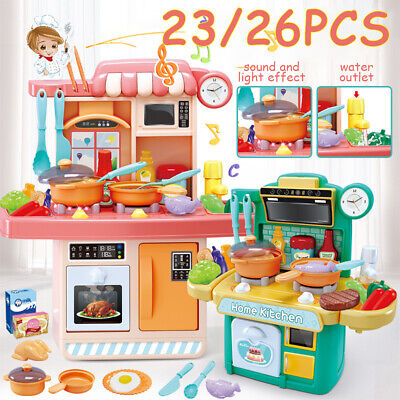 26PCS Cooking Set Kitchen Playset  Pretend Play DIY Cooker Girls Boys Toy  Gift