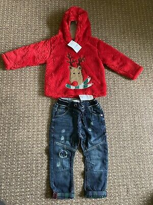 Boys Next Jumper Jeans 1.5-2 Years BNWT