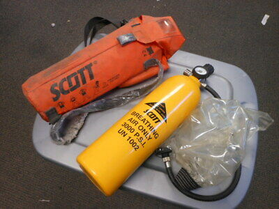 Scott ELSA 3000 PSI 10 Minute Breathing Apparatus Escape Rescue Cylinder Tank