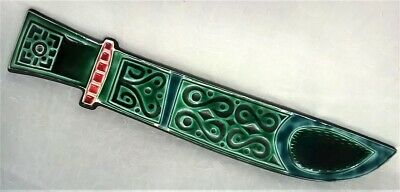 Poole Pottery Robert Jefferson Designed Dagger Wall Hanging Display Plaque