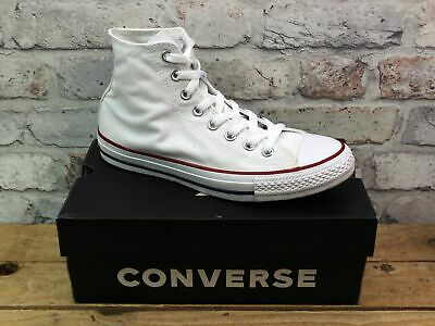 Unisex Converse All Star Chuck Taylor White Canvas Skater Hi Top Trainers Size 7