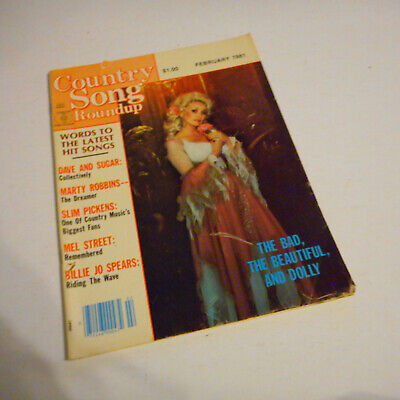 Dolly Parton  Covers Country Song Roundup Magazine February 1981 Marty Robbins