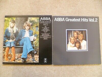 ABBA GREATEST HITS & GREATEST HITS VOL.2 - 2 x VINYL LPS  EPC 69218 & 10017 VG+