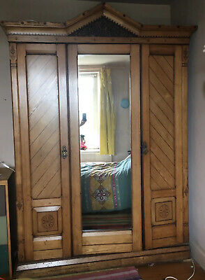 Arts and Crafts style Wardrobe Solid Oak