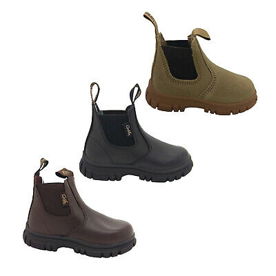 Boys Boots Grosby RanchYth Black Or Brown Leather Pull on Boot Size 13-6