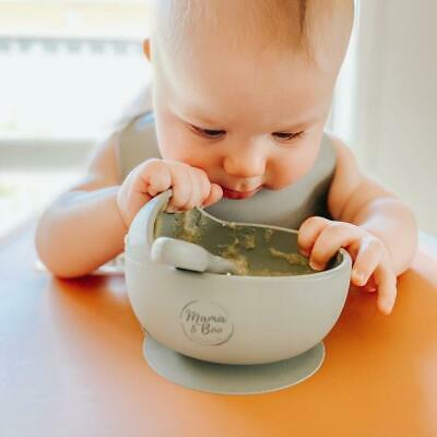 Silicone Suction Bowl Set - Bowl & Spoon Feeding for Children Babies