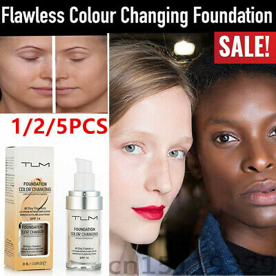 5 X Magic Flawless Color Changing Foundation TLM Makeup Change To Your Skin Tone