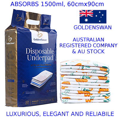GoldenSwan Disposable Underpads (10pcs) Incontinence Bed Pad Mattress Protector