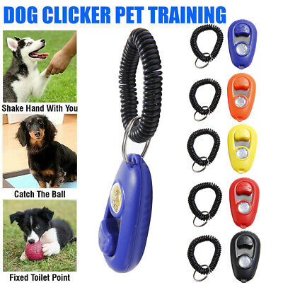 Pet Dog Clicker Training Clicker Trainer Teaching Tool For Dogs Puppy Whistle Uk