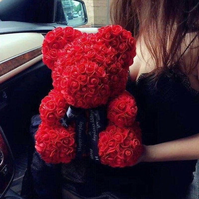 25/40cm Rose Flower Teddy Bear Foam Valentine Wedding  Birthday Anniversary Gift