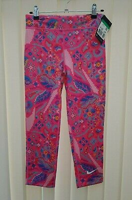 NIKE Brand New Girls Gym Trousers Pink Sports Running Leggings 13-15 Years Kids