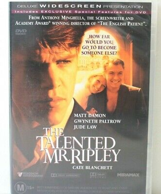 The Talented Mr. Ripley - Matt Damon, Jude Law, Gwyneth Paltrow - DVD - Like New