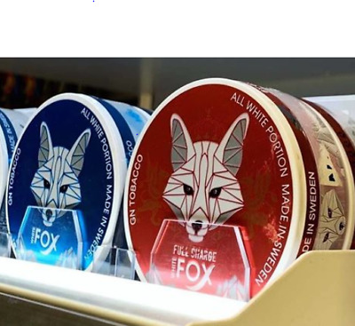 4 Dosen White Fox 2 Pack Original Mint Snus Chewing Tabacco Snuff Nicotine Packs