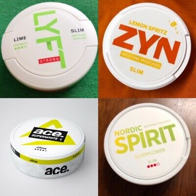 Nordic Spirit/Lyft/Zyn/Ace Sweet Fruit Pack Snus Chewing Tabacco Nicotine Snuff