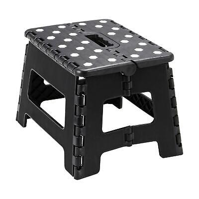 Multi-Purpose Fold Step Stool Plastic Home Kitchen Foldable Easy Storage Black