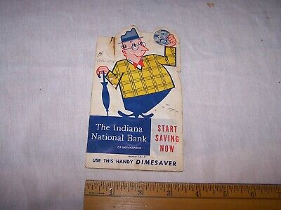 Vintage THE INDIANA NATIONAL BANK OF INDIANAPOLIS Indiana Dime Saver