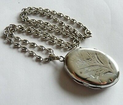 Antique Xix Solid Silver Sterling Necklace Bijoux Anciens Collier Argent Massif