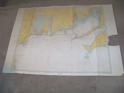 1963 7th Edition Revised Martha's Vineyard to Block Island Cape Cod Canal Map