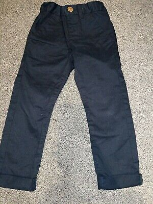 Next Navy Boys Chinos Trousers Age 3-4 Yrs