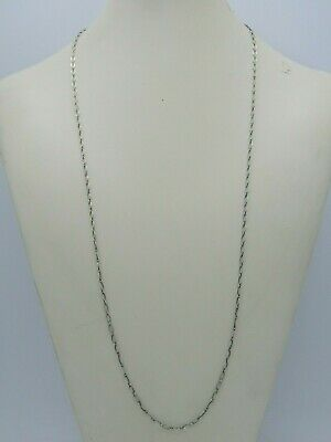 """Tiffany & Co. 30"""" 3mm Sterling Silver Oval Rolo Chain Necklace"""