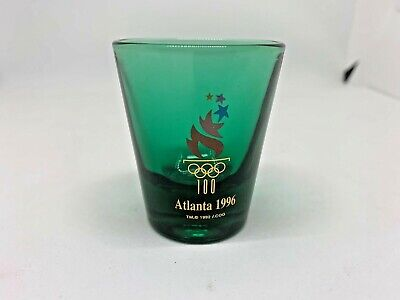 Olympics Shot Glass Atlanta 1996 Green