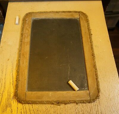 Early 1900's Antique Slate Chalkboard | Wrapped Edges