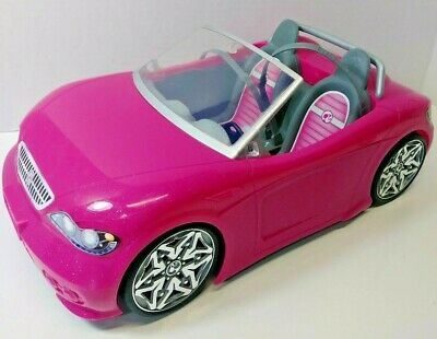 2013 Barbie GLAM CONVERTIBLE CAR w Seat Belts BDF38