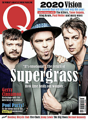 Q Magazine March 2020 (Supergrass, Gerry Cinnamon,  Jenny Lewis, Shiiine On) New